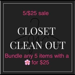 Closet clean out sale